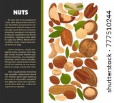 nuts organic nutrition and raw... | Shutterstock .eps vector #777510244