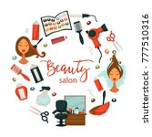 hair beauty or woman... | Shutterstock .eps vector #777510316