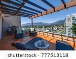 penthouse patio view  vancouver ... | Shutterstock . vector #777513118