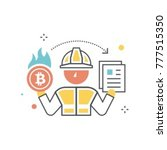 proof of burn system  consensus ... | Shutterstock .eps vector #777515350