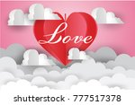 valentine's day concept.love... | Shutterstock .eps vector #777517378