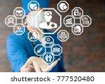 doctor healthcare hospital... | Shutterstock . vector #777520480