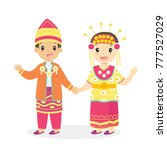 happy boy and girl wearing... | Shutterstock .eps vector #777527029