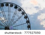 big ferris wheel in dubai ... | Shutterstock . vector #777527050