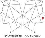 geometrik men and woman | Shutterstock . vector #777527080