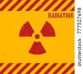 vector grunge radiation... | Shutterstock .eps vector #777527698
