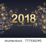 merry christmas lettering... | Shutterstock .eps vector #777530290