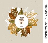 cocoa bean tree design template.... | Shutterstock .eps vector #777536806