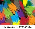 color brush background | Shutterstock .eps vector #777540394