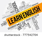 learn english word cloud... | Shutterstock .eps vector #777542704