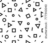 seamless vector geometric... | Shutterstock .eps vector #777543040