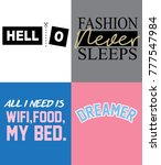 typography slogan for t shirt... | Shutterstock .eps vector #777547984