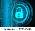safety concept  closed padlock... | Shutterstock .eps vector #777560890