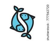 pisces  sign  zodiac   Shutterstock .eps vector #777562720