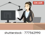 broadcasting radio host speaks... | Shutterstock .eps vector #777562990