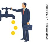 cash flow concept. vector... | Shutterstock .eps vector #777564580