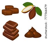 set of colorful chocolate... | Shutterstock .eps vector #777566479