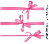 vector set of decorative pink... | Shutterstock .eps vector #777567013