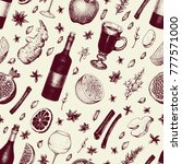 winter seamless pattern with... | Shutterstock .eps vector #777571000