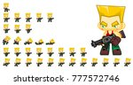 soldier game character for... | Shutterstock .eps vector #777572746