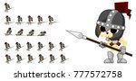 skeleton knight game character... | Shutterstock .eps vector #777572758