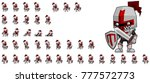 knight character animation for... | Shutterstock .eps vector #777572773