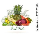 card or poster template. garden ... | Shutterstock .eps vector #777573310