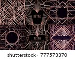 art deco vintage patterns and... | Shutterstock .eps vector #777573370
