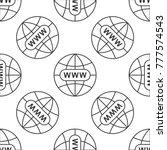 go to web icon seamless pattern ...