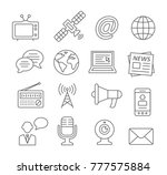 media line icons on white | Shutterstock .eps vector #777575884