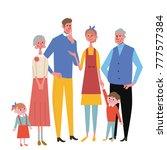 family memorial photography... | Shutterstock .eps vector #777577384