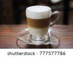 close up of hot caramel... | Shutterstock . vector #777577786