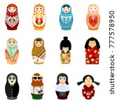 doll matryoshka vector... | Shutterstock .eps vector #777578950