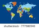 color world map vector | Shutterstock .eps vector #777580540