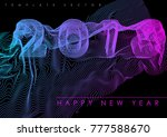 happy new year 2018 hipster... | Shutterstock .eps vector #777588670