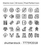 Electric Line Icon Editable...