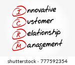 icrm   innovative customer... | Shutterstock .eps vector #777592354
