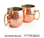 moscow mule cocktail copper... | Shutterstock . vector #777593833