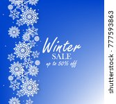 blue winter background with... | Shutterstock .eps vector #777593863