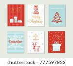 set of merry christmas and... | Shutterstock .eps vector #777597823