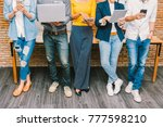group of asian and multiethnic... | Shutterstock . vector #777598210