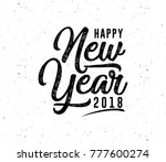 happy new year. holiday vector... | Shutterstock .eps vector #777600274