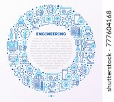 engineering concept in circle... | Shutterstock .eps vector #777604168