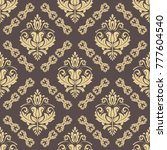 orient vector classic pattern.... | Shutterstock .eps vector #777604540