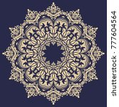 oriental vector round golden... | Shutterstock .eps vector #777604564