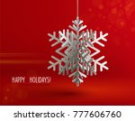 winter background with... | Shutterstock .eps vector #777606760