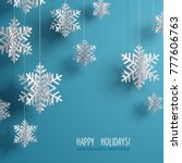 winter background with... | Shutterstock .eps vector #777606763