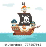 pirate ship crew buccaneer...