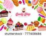 vector page design banner... | Shutterstock .eps vector #777608686