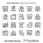 social media strategy  bold... | Shutterstock .eps vector #777610024